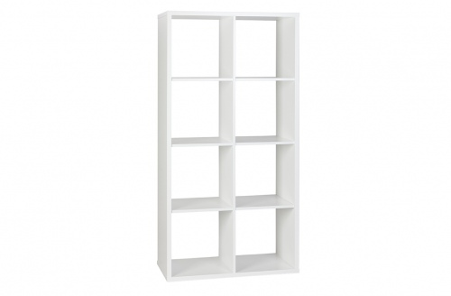 Cubo Bookcase Assembled White W811Xd396Xh1595