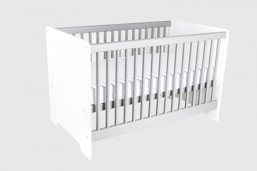 Cariboo Contemporary Cot White/Grey Nz Made