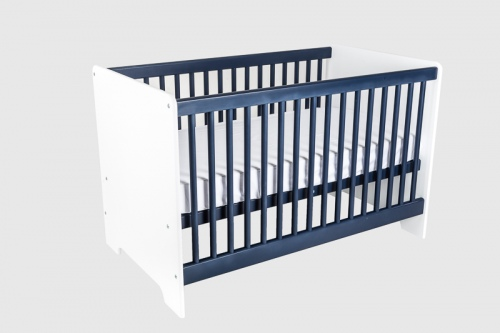 Cariboo Contemporary Cot White/Navy Nz Made