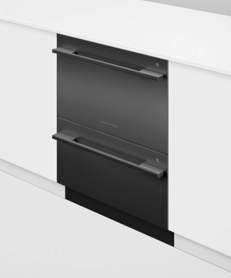F&P Double Dishdrawer Designer Black 599X573X880H