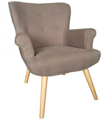 Duke Beige Fabric Arm Chair 76X79X96
