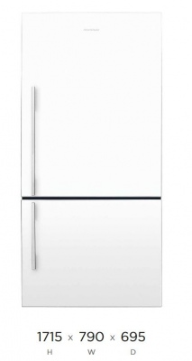 F&P Fridge Freezer 519L 1715X790X695