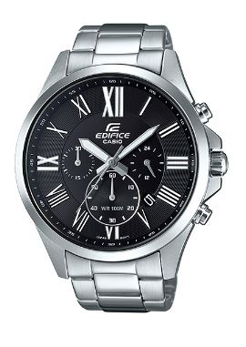 Edifice Classic Stainless Black Analogue Watch