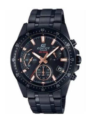 Edifice Classic Stainless Black Cop Analogue Watch