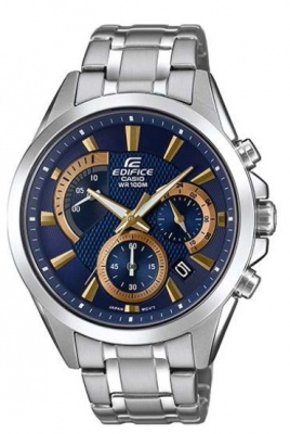 Edifice Navy Stainless Analogue Watch