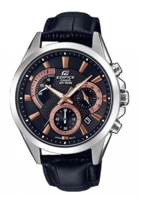 Edifice Black Copper Stainless Analogue Watch