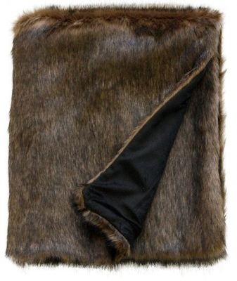 Elmwood Cocoa Bear Faux Fur Throw 130X150Cm