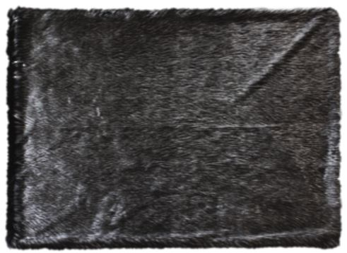 Heirloom Ebony Plume Acrylic Throw 150X220Cm