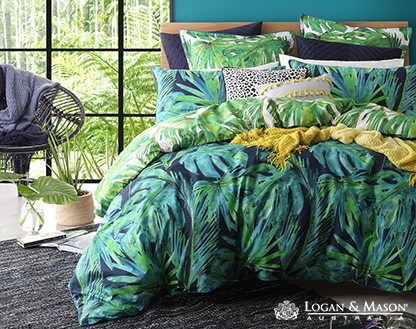L&M Fiji Lagoon Double Duvet Cover Set