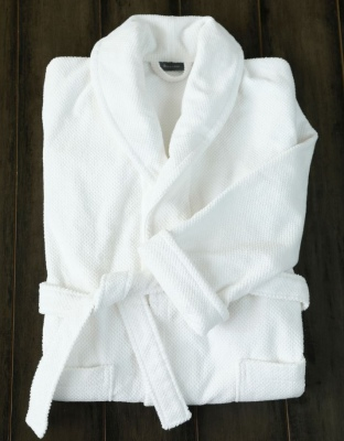 Finn 450Gsm Turkish Cotton White Bathrobe Medium