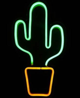 Cactus Led Flex Neon Light 46X25Cm