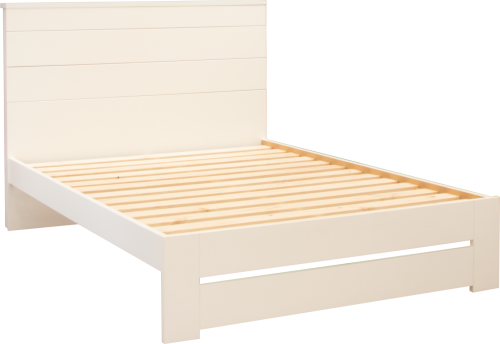 Franz King Single Slatbed Frame White 1130X2190X11
