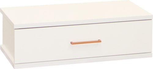Franz 1 Draw Underbed Storage White W/Copper Hand