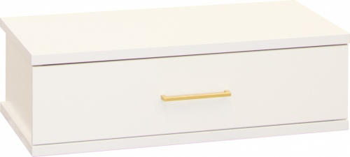 Franz 1 Draw Underbed Storage White W/Gold Handle