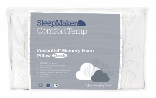 Sleepmaker Fusion Gel Memory Foam Classic Pillow