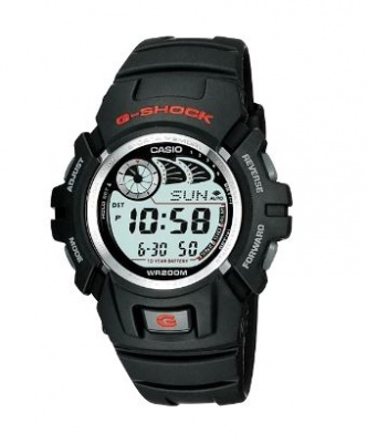 G Shock Black Silver Red Digital Watch