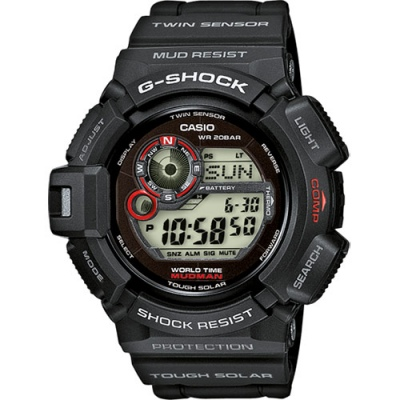 G Shock Mudman Black Digital Watch Solar Compass