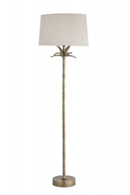 Pineapple Floor Lamp With Linen Shade 450X1680H