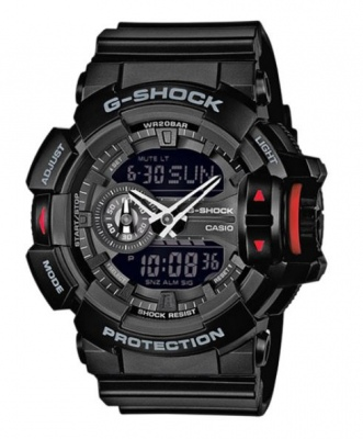 G Shock Black Black Digital & Analogue Watch