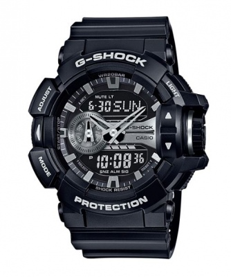 G Shock Black Silver Digital & Analogue Watch