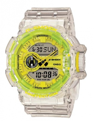G Shock Clear Fluro Yellow Analogue Digital