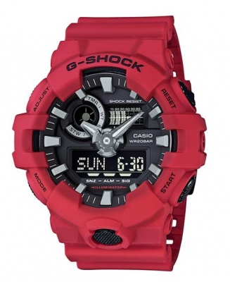 G Shock Red Black Digital & Analogue Watch