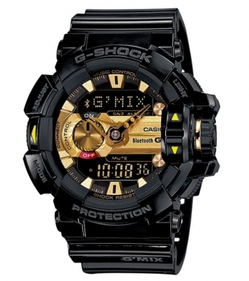 G Shock G'Mix Black Gold Analogue Watch Bluetooth