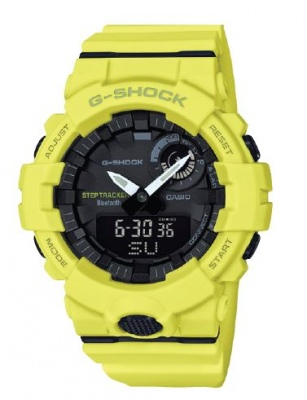 G Shock G-Squad Yellow Bluetooth Watch Step Counte
