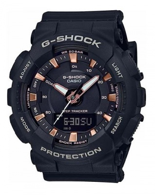 G Shock Black Bronze Analogue Watch Step Count