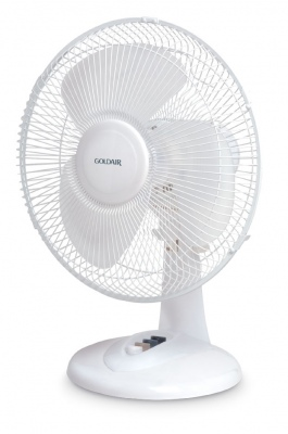 Goldair 30Cm Desk Fan White