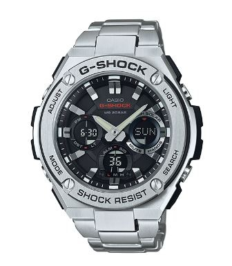 G Shock G-Steel Stainless Analogue Watch Solar Pow