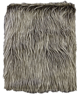 Spikey Brown Faux Fur Throw 130X150CM Polyester