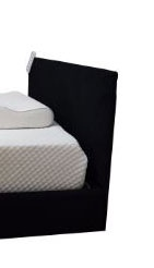 Hi-Lo Black Upholstered Double Headboard For Af90
