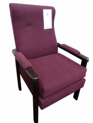 Herb Arm Chair Burgundy Weave Fabric NZ Made