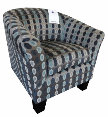 Hilton Tub Chair Cezar Opal Fabric NZ Made