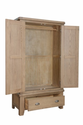 Coroglen Warm Oak Wardrobe 110X57X200