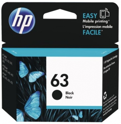 Hp 63 Ink Cartridge Black Original