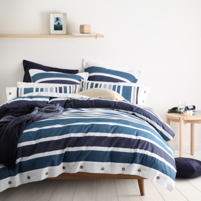 L&M Hunter Navy King Duvet Cover Set