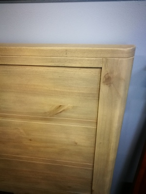 Art Deco Queen Headboard Distressed Pine