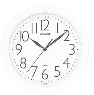 Casio White Wall Clock Resin 250X250X39Mm