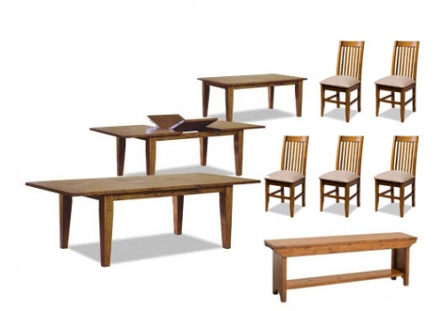 Irish Coast 1830 Ext Table + 5 Dining Chairs + Ben