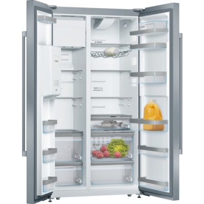 Bosch 633 Fridge Freezer Stainless 912X732X1756H