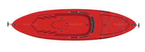 Kayak Adults With Paddle Red