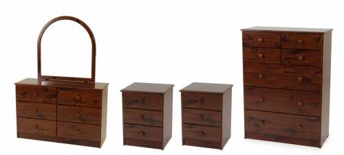 Kingston 4Pc Bedroom Suite Wood 2Xbc 1Xtb 1Xdr