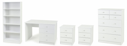 Kingston 5Pc Student Suite White 2Xbc 1Xtb 1Xds 1X
