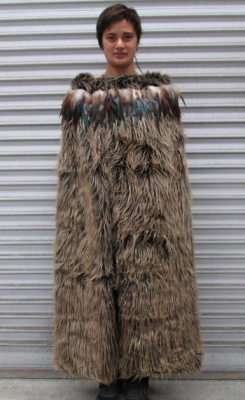Korowai (Feather Cloak) Brown Design 150X125CM
