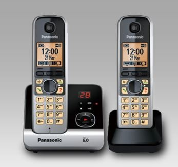 Panasonic Cordless Telephones Twin Pack Pearl Silv