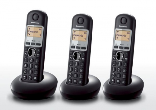 Panasonic Triple Pack Cordless Telephones Black