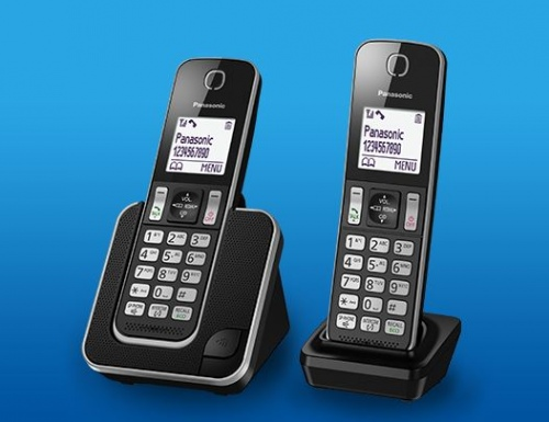 Panasonic Cordless Telephones Twin Pack Black