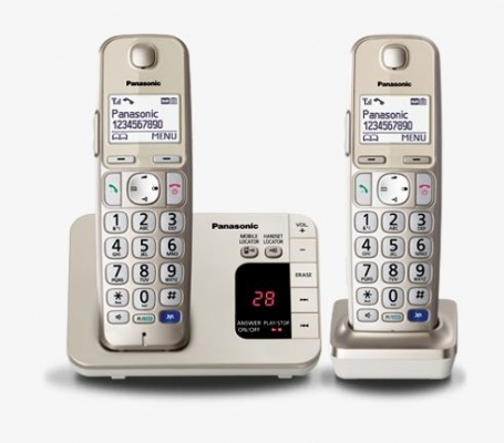 Panasonic Cordless Telephones Twin Pack Silver